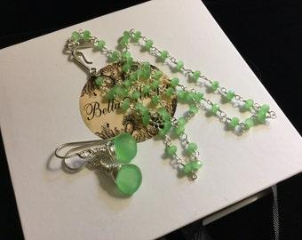 Mint Green Chalcedony Set