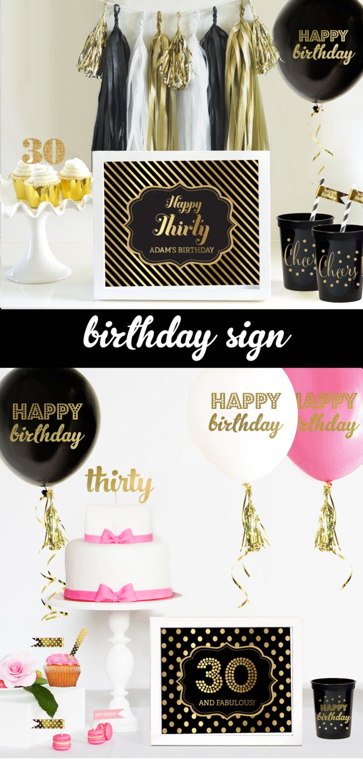 30th birthday decorations 30th birthday for him or her 30th for 30th anniversary party decoration ideas