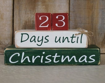 Days until Christmas countdown blocks