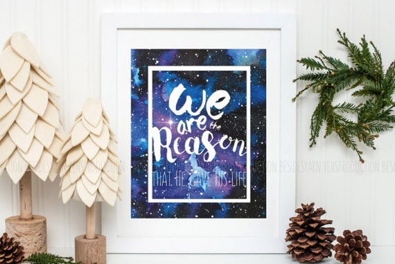 Christian wall art printable hymn art we are the reason worship