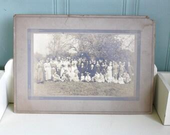Antique Wedding Photo Sepia Photograph Bride Groom Ephemera Cabinet Photo Middleboro MA