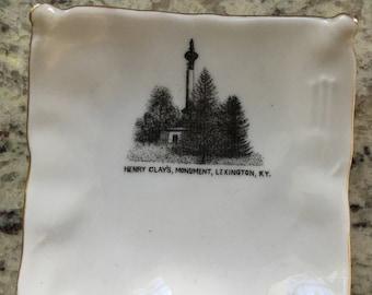Souvenir piece from the Henry Clay Monument in Lexington Kentucky made in Austria W L Alcombrack Noah's Ark store unique historic porcelain