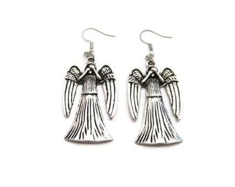 Weeping Angel Earrings Angel Earrings  Angel Gifts Under 20  Weeping Angel Jewelry