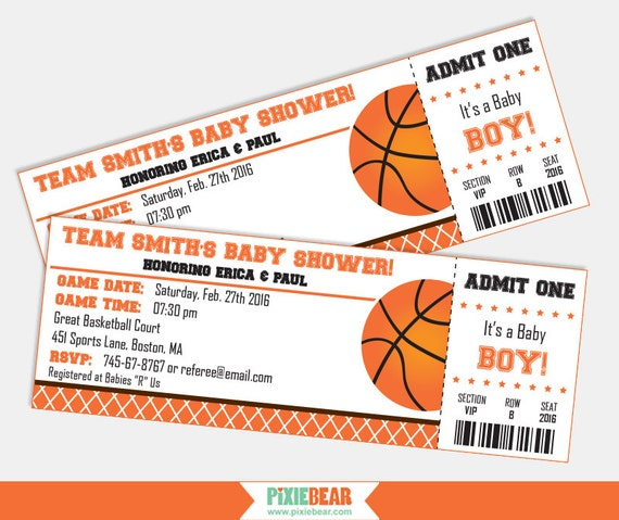 Basketball Baby Shower Invitation Baby Shower by ...