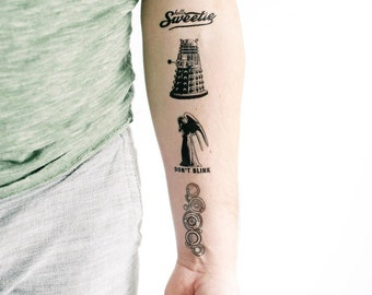 5 Doctor Who Temporary Tattoos- SmashTat
