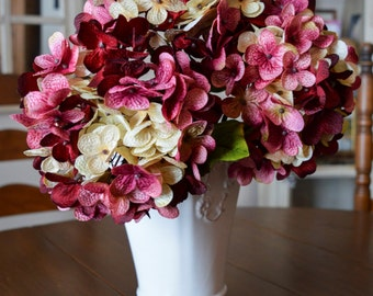 Hydrangea | Hand Blended Hydrangea Stem | Silk Hydrangea | Mother's Day Gift | Artificial Hydrangea | Stems for Vase | Home Decor