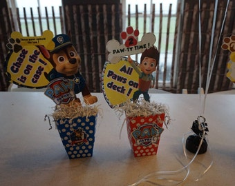Paw Patrol Birthday Party DIY Centerpieces or Photo Props (Instant Download)