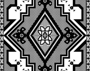 Southwestern Table Topper: Southwest-inspired Lace in Filet Crochet
