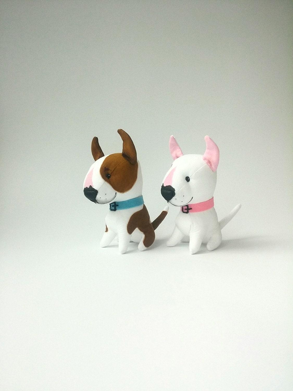 Stuffed animal plush dog bull terrier toy custom stuffed dog