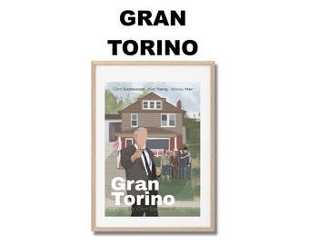 Gran Torino Movie Print - Poster Clint Eastwood A3