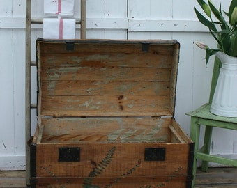 French Domed Travel Trunk