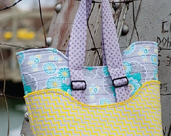 "Road Trip Tote Bag Pattern by Kati Cupcake Pattern Co; KC162; 13"" x 6"" x 15.5"" Bag; Sewing Pattern, DIY Bag"