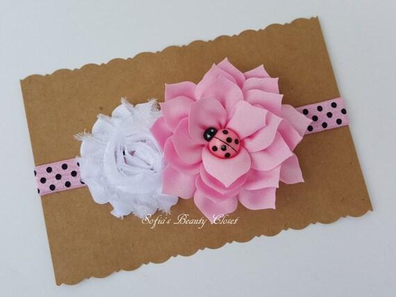 Knitting Ladybug Ladybird Headband : Items similar to pink ladybug headband