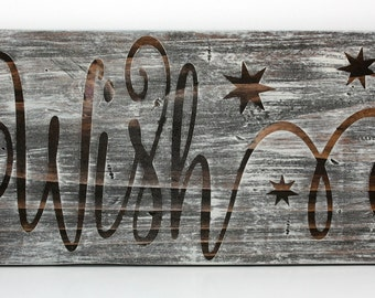 Wish sign, Christmas sign, Rustic Wish Sign, Wood Sign, Christmas Decor, Christmas Wish sign