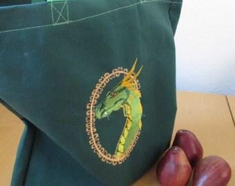 Dragon reusable shopping bag (hunter green)