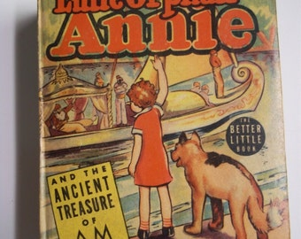 Little Orphan Annie and the Ancient Treasure of Am Whitman Better Little Book #1414 1939 Vintage BLB