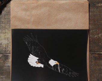 The Eagle post card illustration