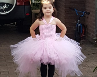 Pink High Low Tutu Dress  up to Teen size - Pink Tutu Dress  Birthday, special Event -