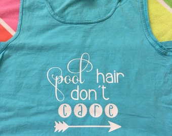 Pool hair don't care comfort colors poolside tank / coverup