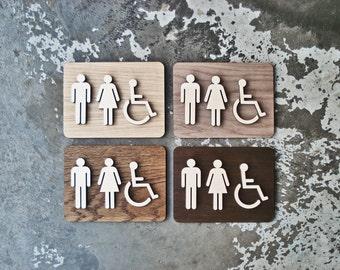 Bathroom Sign Size custom design co.grayskunk on etsy