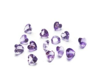 June Birthstone Crystal Heart Floating Charm for Floating Lockets-Light Amethyst-Light Purple-5mm-1 Piece-Gift Ideas