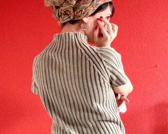 Olive green, turtleneck blouse!