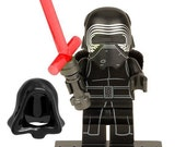 """The Force Awakens Star Wars Kylo Ren Darth Vader 1 3/4"""" Minifigures can be Created Into A Brooch Keychain ID badge Cufflinks Lego Compatible"""