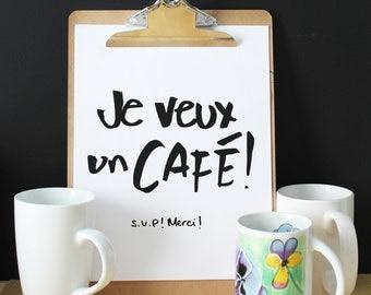 Quote coffee, coffee print, kitchen art, coffee art, foodies, coffee poster, kitchen poster, kitchen decor, typography, minimalist, design