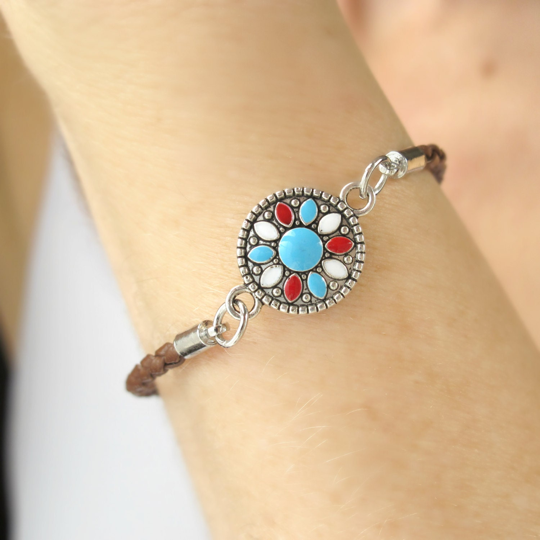 southwestern jewelry turquoise flower bracelet turquoise. Black Bedroom Furniture Sets. Home Design Ideas