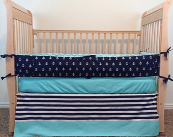 Baby Bedding - Custom Crib Bedding - Anchor Baby Bedding - Nautical Baby Bedding - Baby Crib Bedding - Crib Set - Custom Baby Bedding