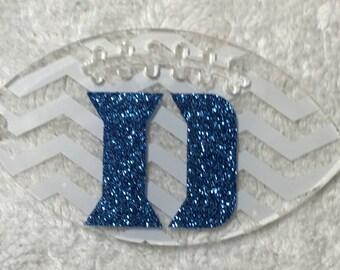 SALE** Glitter Duke Football Acrylic Keychain