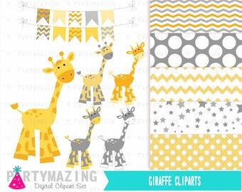 Giraffe clipart | Etsy
