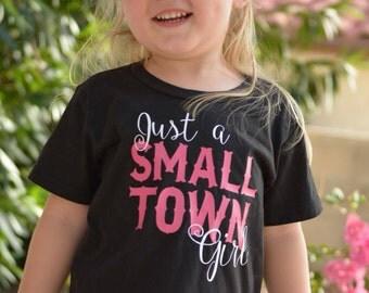 Just a Small Town Girl Kid's Shirt or Baby Bodysuit - Birthday Shirt, Toddler Shirt, Girls Shirt, Lyrics Shirt