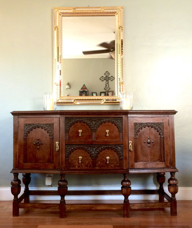 sold antique buffet sideboard server. Black Bedroom Furniture Sets. Home Design Ideas