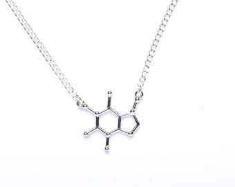 Caffeine Necklace | Caffeine Molecule Necklace | Coffee Addict Gift | Caffeine Addict gift |