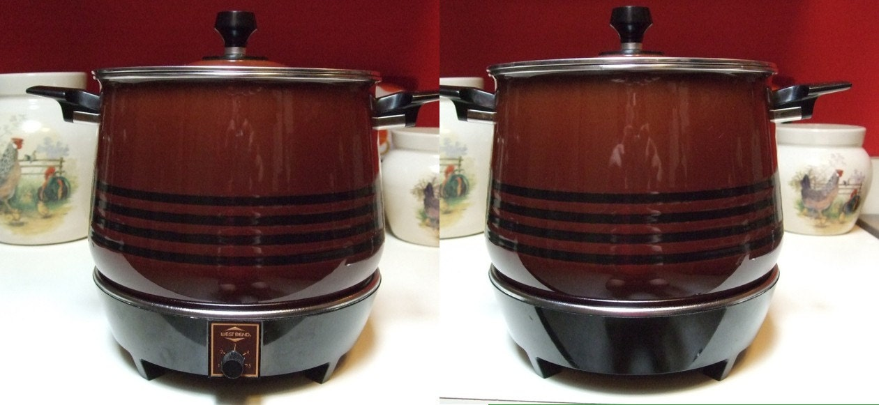 Vintage West Bend Lazy Day 5225 Slow Cooker Crock Pot Style