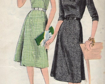 Vintage 1960s Vogue Sewing Pattern 9822 - Misses' One-Piece Dress size 12 bust 32