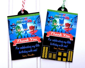 PJ Masks Favor Tags// Personalized