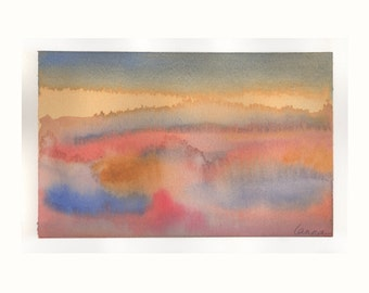"Sunset by Lanna Borom (6"" x 9"") Original Watercolor painting"