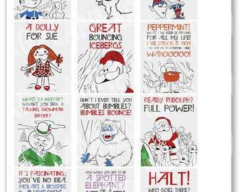Rudolph Quote Full Box Planner Stickers for Erin Condren Planner, Filofax, Plum Paper