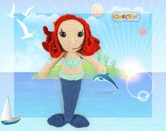 Crocheted MERMAID, Mermaid doll, Amigurumi Doll, Girl's Gift, Crocheted Softie, Handmade Mermaid, Toddler Toy, Australian Made, Customized