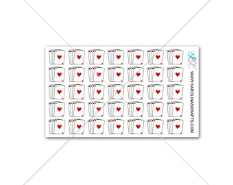 Itty Bitty Vegas Planner Stickers! Itty Bitty Planner Stickers, Gambling Stickers, Small Stickers, Tiny Travel Stickers #SQ00470