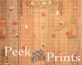 5ft.x5ft F is for Family ... Vinyl Photography Backdrop, Newborn Prop, Newborn Photography, Fall Studio Backdrop Background