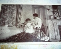 Antique Tuck  Photo Post Card Baby's Prayers