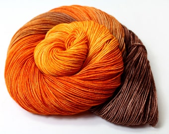 Constant Comment Orange Spice Tea -DYED TO ORDER Sock Fingering Yarn 100g 463yd 75/25 Superwash Merino Wool/Nylon Groovy Hues tea Collection