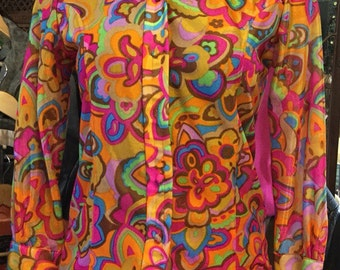 Vintage Psychedelic Blouse