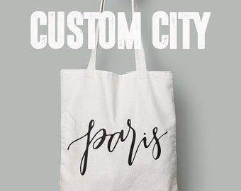 market canvas tote bag // custom city