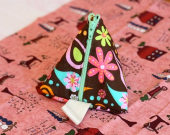 Triangle Coin Pouch/Purse/Jewelry Pouch