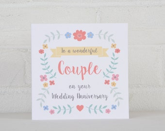 Anniversary Card, Anniversary Card for a Couple, Anniversary Card Wife, Modern Anniversary Card, Brush Lettering Anniversary Card