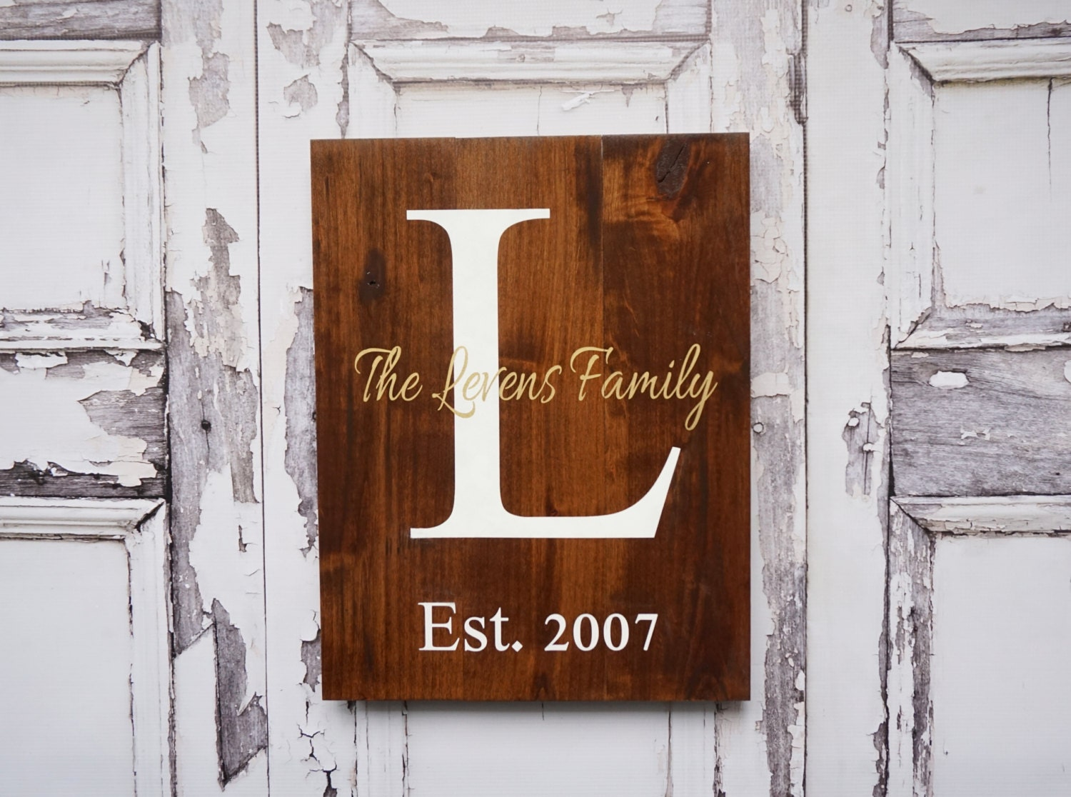 Last Name Sign Rustic Home Decor Wedding Established Date
